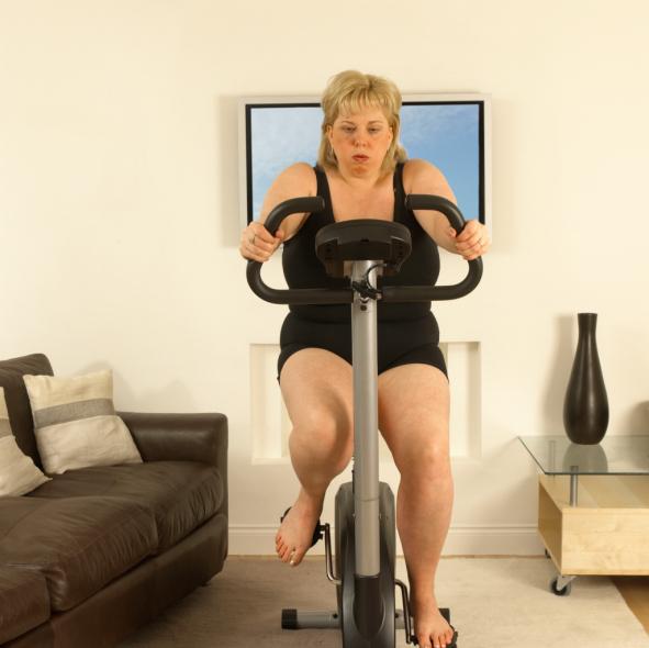 ein Fahrrad-Ergometer aus dem Internet